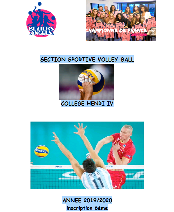 Inscription volley 2019-2020